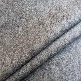 Tweed de lana tejido camuflaje para untar, mezcla de tejido de color