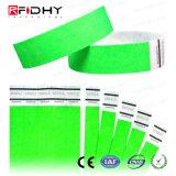 Impression couleur en Tyvek bracelet RFID inscriptible
