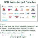 caisse de téléphone de la sublimation 3D pour l'iPhone X S8