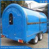 Carro al aire libre del quiosco del alimento de la calle del diseño 4 del árbol doble popular de las ruedas grandes para la venta