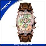 Montre-bracelet à extrémité élevé Psd-2326 d'acier inoxydable de quartz de mode