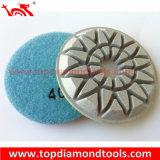 Piso de concreto de boa qualidade, polimento de diamantes a seco