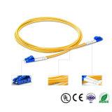 Le LC à la connexion duplex extérieure de LC câble le SM