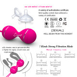 Silikon Kegel Kugel-Geschlechts-Produkt-Geschlechts-Spielwaren vaginale feste Übungs-vibrierende Ei-FernsteuerungsGeisha-Kugelben-Wa