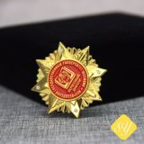 Distintivo dell'oro del metallo 2D/3D di spilla di sicurezza