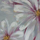 Het mooie Purpere het Bloeien Schilderen van de Hand van de Bloem voor het Decor van het Huis