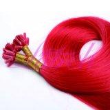 Uの先端の拡張まっすぐの赤いRemyのブラジルの人間の毛髪の拡張