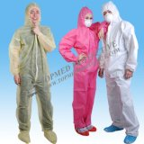 クリーンルームの使用のための使い捨て可能なNonwoven帯電防止塵の証拠のつなぎ服
