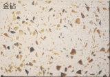 Ls-Q001 Gold Diamond pedra artificial azulejos polido&Brames&Bancada