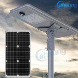 40W Nouveau design tout-en-un/solaire intégré Gardden Lampe LED de la rue avec capteur intelligent