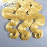 Onverwerkt Maagdelijk Haar dat Weft Menselijke Haar van de Golf van het Lichaam 1b/Blonde weeft