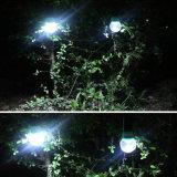 通路の庭40 LEDの太陽ライトのための充電電池が付いている太陽エネルギー2 LEDの球根E27 360lm二重ランプライト