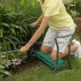 Grüner faltender Gartenkneeler-Prüftisch