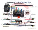 kit elettrico del motore del motociclo di 48V/72V 96V 5kw con aria Cooliing