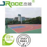 Revestimento de borracha confortável e da pintura ao ar livre da corte de Badminton do Spu da alta qualidade