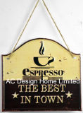 Кофе в городе дизайн тиснение (emboss) Печать металлической стенки декор зубного налета