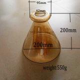 Salto ambrato di vetro per indicatore luminoso Pendant, con il coperchio del hardware