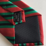 Laço tecido do logotipo do poliéster dos homens jacquard Handmade (L064)