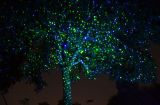 Рождество лазерный свет два цвета освещения в альбомной ориентации на открытом воздухе