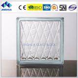 Jinghuaの高品質の直接ゆとり190X190X80mmのガラスレンガかブロック