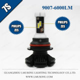 Lmusonu 7s車のヘッドライト9007 LEDのヘッドライトLEDの自動ランプ25W 6000lm
