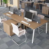 現代家具のオフィスワークステーションのための引出しが付いている二人用の事務机