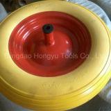 Rodas coloridas pintadas da espuma do plutônio da borda do metal
