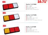 """10.71 """" 3 vagens Waterproof a caravana da lâmpada traseira da luz da cauda do diodo emissor de luz 10-30V para o Ute do reboque do caminhão"""