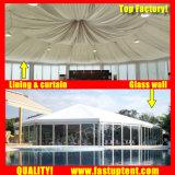 Vidrio de lujo en el lado de varios coches Carpa de exposición de 10 m de diámetro de 100 personas plazas Guest