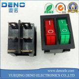 Bote doble interruptor basculante con dos colores