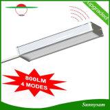 El radar de microondas de 48 LED Sensor de movimiento de la luz solar 800lm impermeable al aire libre de la calle Lampara de pared con 4 modos de trabajo