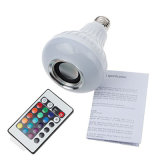 RGB LED E27 7W de altavoces de audio inalámbrico de reproducción de música de la luz de lámpara de luz con mando a distancia