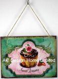 Plaque van het Decor van de Muur van de Druk van het Metaal van het Ontwerp van de Cake van de kop de Rechthoekige