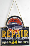 Тиснение (emboss) участка ремонта автомобилей печать металлической стенки декор зубного налета