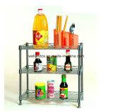 Estante de acero ajustable del estante del alambre de la cocina de DIY mini para el alimento (CJ603060C3C)
