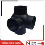 Gute Qualitätsdoppelt-Kugel-Zweig 90 Grad HDPE Rohrfitting
