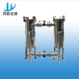 Ss304 de Sanitaire DuplexFilter van de Zak voor Melk