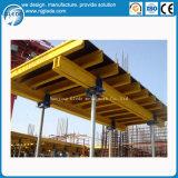 Chão de concreto quadro Descofragem com H20 viga de madeira escora de Aço