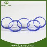 Silkscreen силикона браслетов приятельства изготовленный на заказ напечатал для людей