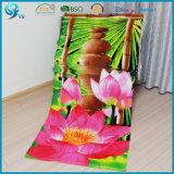 100% toalla del algodón reactivo impresión personalizada Velour Beach