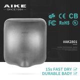 AK2801によって引込められる手の乾燥機械浴室の洗面所の高速ステンレス鋼のジェット機の空気手のドライヤー