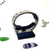 De brede Armband van de Diamant van Zircon van het Roestvrij staal van de Manchet van het Horloge voor Mensen