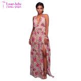 De mode d'impression de fente de dames robes neuves longtemps (L51423)