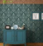 Fabricante China tapiz verde hermoso papel tapiz de flores