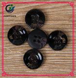 Кнопки рубашки костюма смолаы черной кнопки литерности 4holes высокосортные