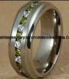 方法ステンレス鋼のガラス石造りのチタニウムのリング(TR1826)