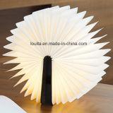 LED-Anzeigen-Buch-Lampe mit hölzernem Deckel für Weihnachtsdekoration