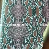 뱀 지상 이중 면 PU 신발 가죽 (QDL-SP036)