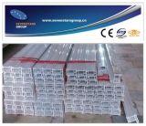 Riga di plastica dell'espulsione di profilo del PVC con qualità di Supurb