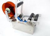 Semi-automática de la botella redonda Máquina etiquetadora Etiquetado de China